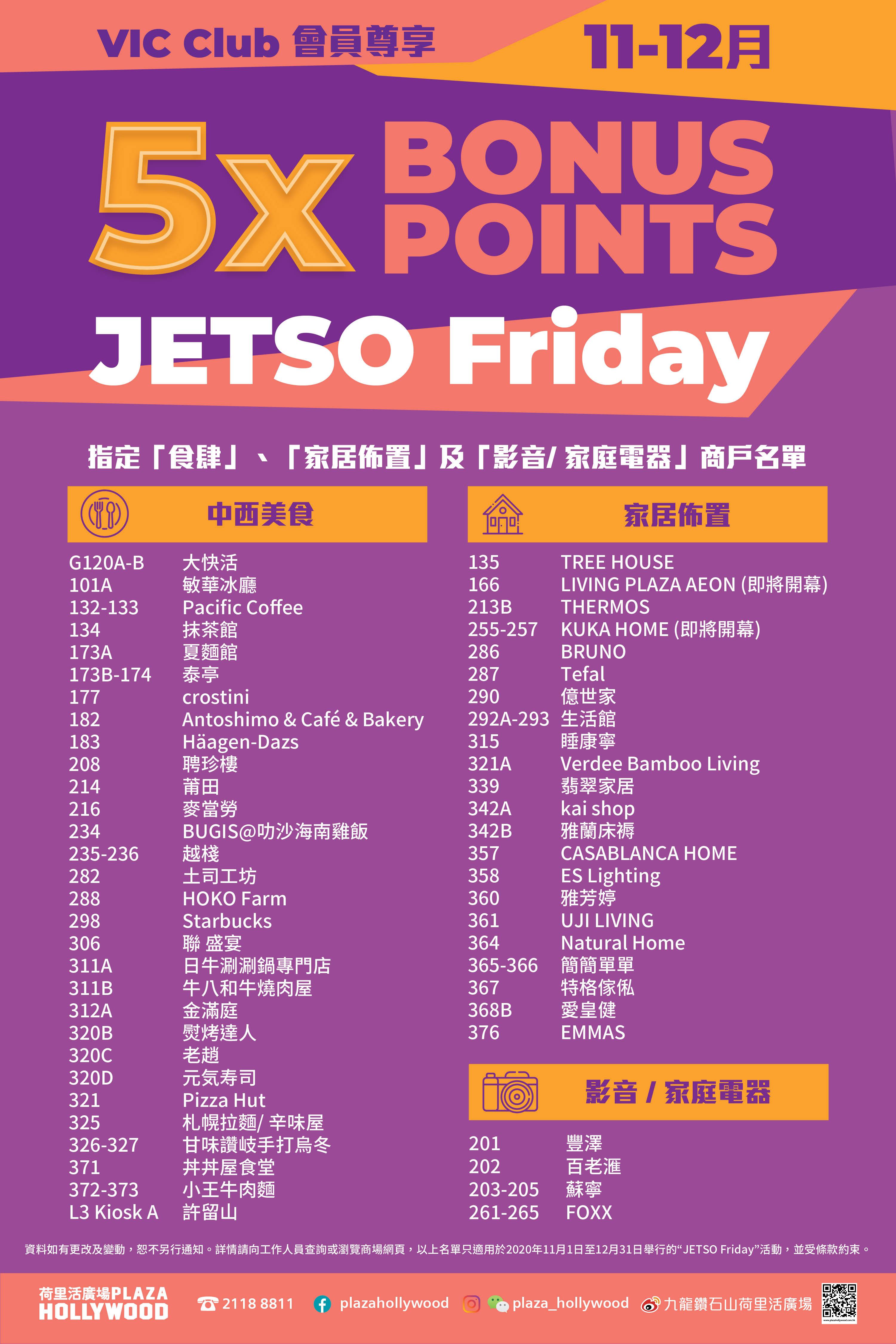 JETSO Friday - Tenants List
